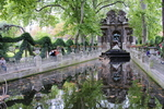 Wonderful Paris garden with fountains and statues