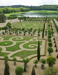 The palace and gardens of Louis XIV's palace at Versailles