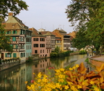 The nearly Germanic Alscace town of Strasbourg